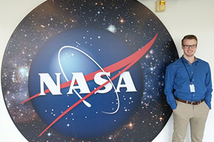 Mac student Mitchell Kurnell working at NASA this summer